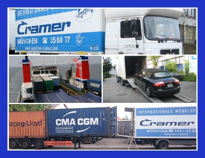 Spedition CRAMER  Umzüge & Transporte München, Germering, Dachau, Landshut
